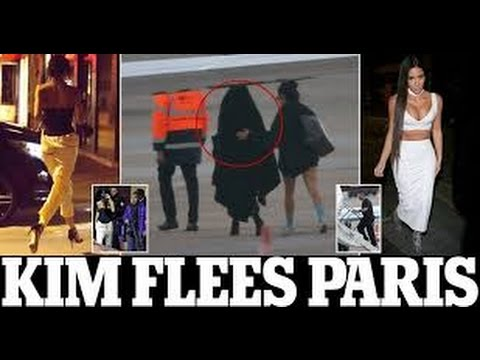 Kim Kardashian flees France on private jet after she is tied up at gunpoint in Paris apartment