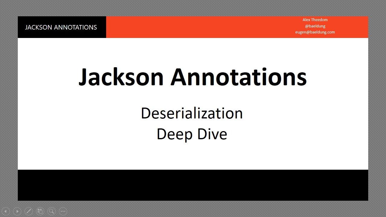 Jackson Deserialization - 1 - intro