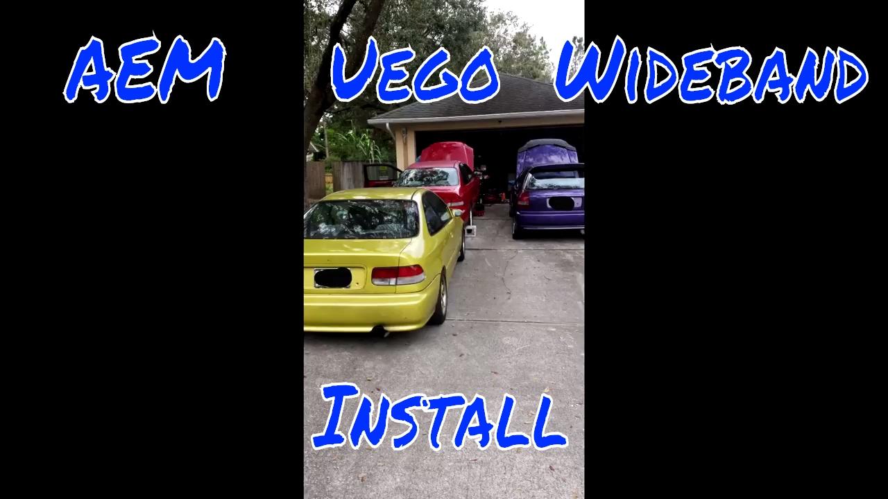 hight resolution of diy aem uego wideband install in 99 civic ex w k20a2