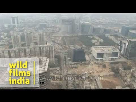 Gurgaon - India's youngest city, seen from the air