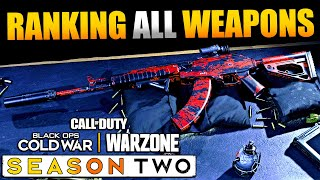 Ranking All Warzone Weapons with Meta/Top Gun Class Setups/Loadouts | Cold War Warzone Season 2
