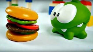 ocuk filmi Om Nom yine a Hamburger yapyoruz