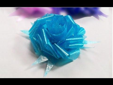How to make ribbon Rose? วิธีพับดอกกุหลาบจากริบบิ้น