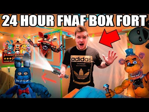 24 HOUR FNAF BOX FORT!! 📦😱 Scary Real Life Five Nights At Freddy's