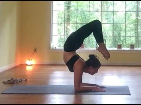 """ advanced "" backbending guided yoga practice  kapotasana"