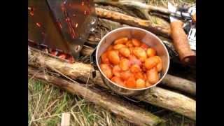Firebox Hobo in Betrieb & scharfe Bohnen