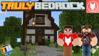 Truly Bedrock SMP - S2 : E3 - Pathways & A Redstone Project