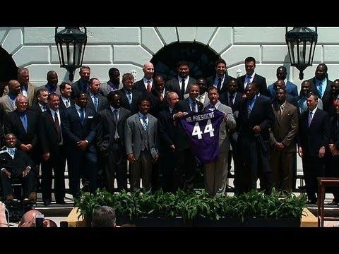 President Obama Honors Superbowl XLVII Champion Baltimore Ravens