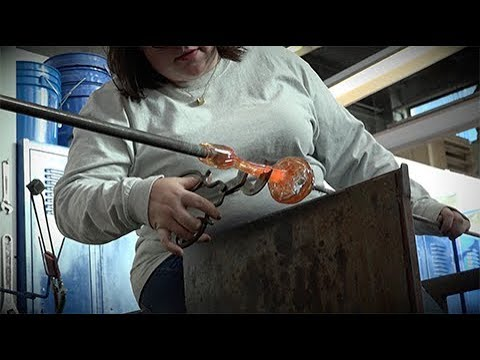 Glass blowing offers creative opportunities