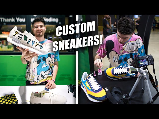 I CUSTOMIZED SNEAKERS AT COMPLEXCON!