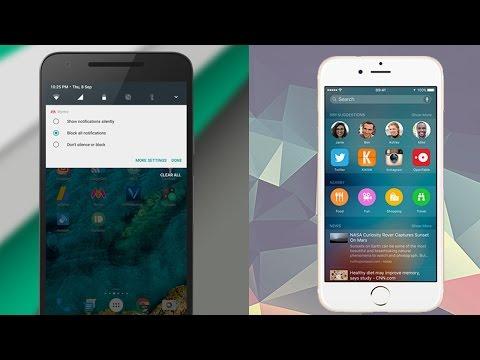 Android Nougat - iOS 10 Karşılaştırma! Sizce Hangisi?