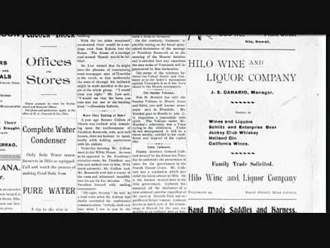 Old Hawaiian Soda adds from 1905 Hilo Tribune