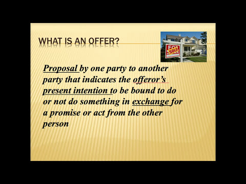 Contract Law-Offer and Acceptance