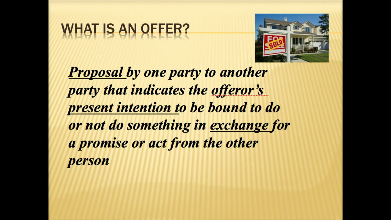 contract law offer and acceptance contract law offer and acceptance