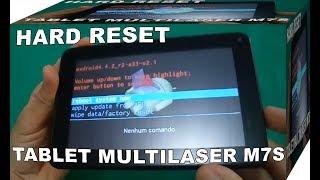 Veja Como Fazer Hard Reset No Tablet Multilaser M7S - Restaurar Configurações de Fábrica