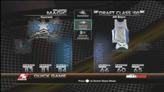 NBA 2k10 walkthrough All Team Jersey Home and Away Real Gameplay Footage Xbox 360