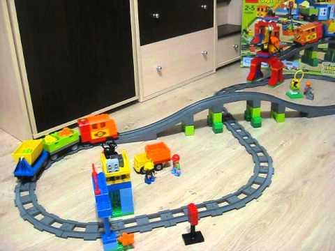 железная дорога лего дупло (поезд) - YouTube
