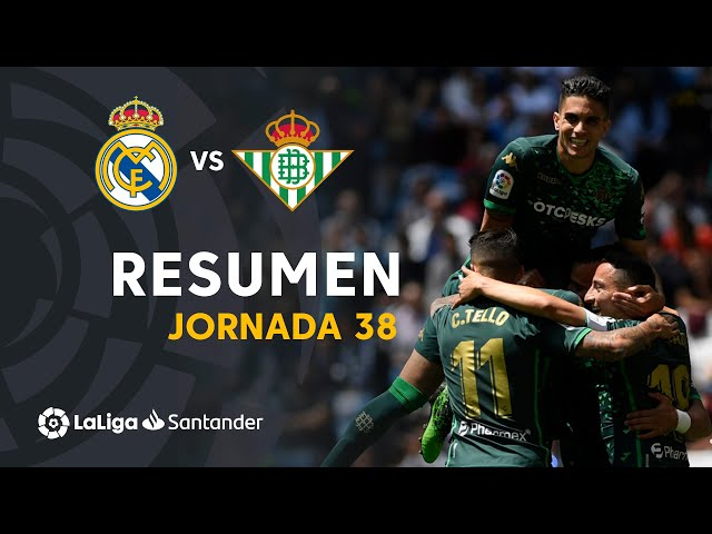 Resumen de Real Madrid vs Real Betis (0-2)