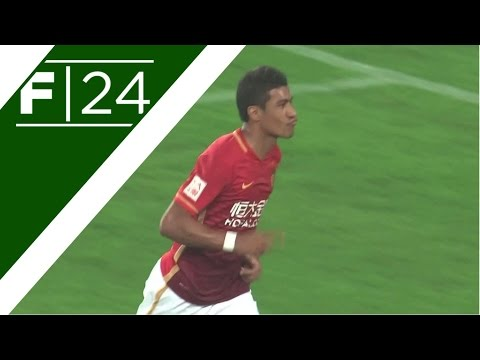Paulinho and Martinez on target in Guangzhou derby