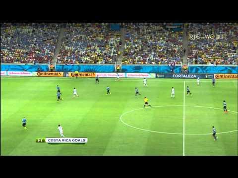 Uruguay vs Costa Rica 3 Goals World Cup 2014 (English) HD