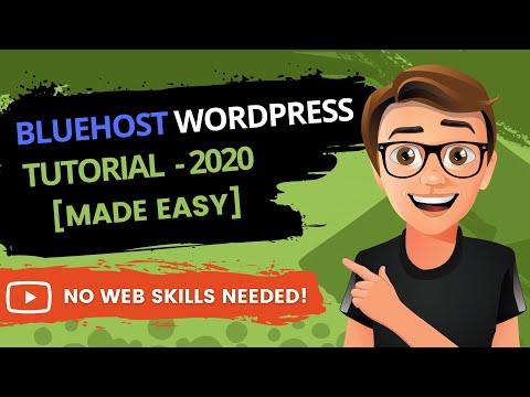 Bluehost WordPress Tutorial – Step-By-Step (2019)