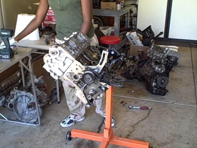 7afe 4afe engine rebuild, Oil pump installation