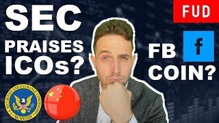 SEC praises ICOs? Facebook to launch crypto? Whitehouse Turning Pro Bitcoin?
