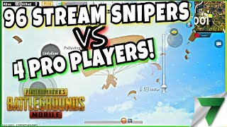 Gambar cover CUSTOM MATCHES! 96 Stream Snipers vs 4 Pro Players! | PUBG Mobile