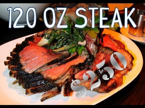 America's Most Expensive Food Challenge - 120oz Steak