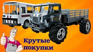 Отличный ГАЗ 66 и ПАЗ 32053. Машинки с барахолки