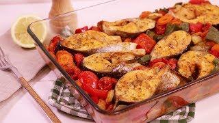 Очень вкусная Рыба в Духовке с Овощами ! РЕЦЕПТ !