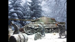WW II Diorama King Tiger Battle of the bulge, Ardennes, 17 December 1944. 1/35