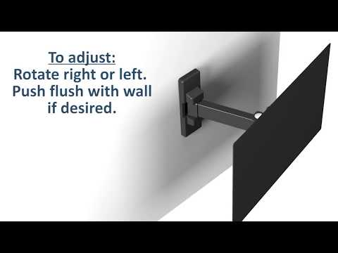 Manhattan Universal Flat-Panel TV Articulating Wall Mount Quick Install Video (Model #461375)