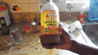 Apple Cider Vinegar Drink with Tumeric, Ginger, and Cayenne Pepper
