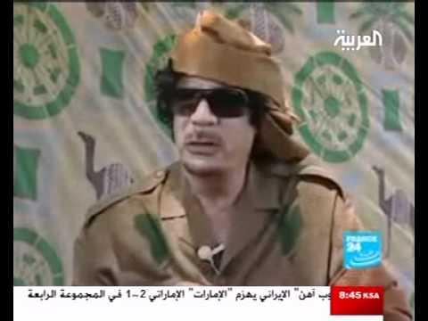 غرائب العقيد: القذافي يتحدث إلي الجماهير