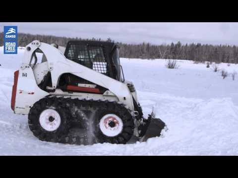 Camso over-the-tire tracks (OTT) for skid steers: perform during winter