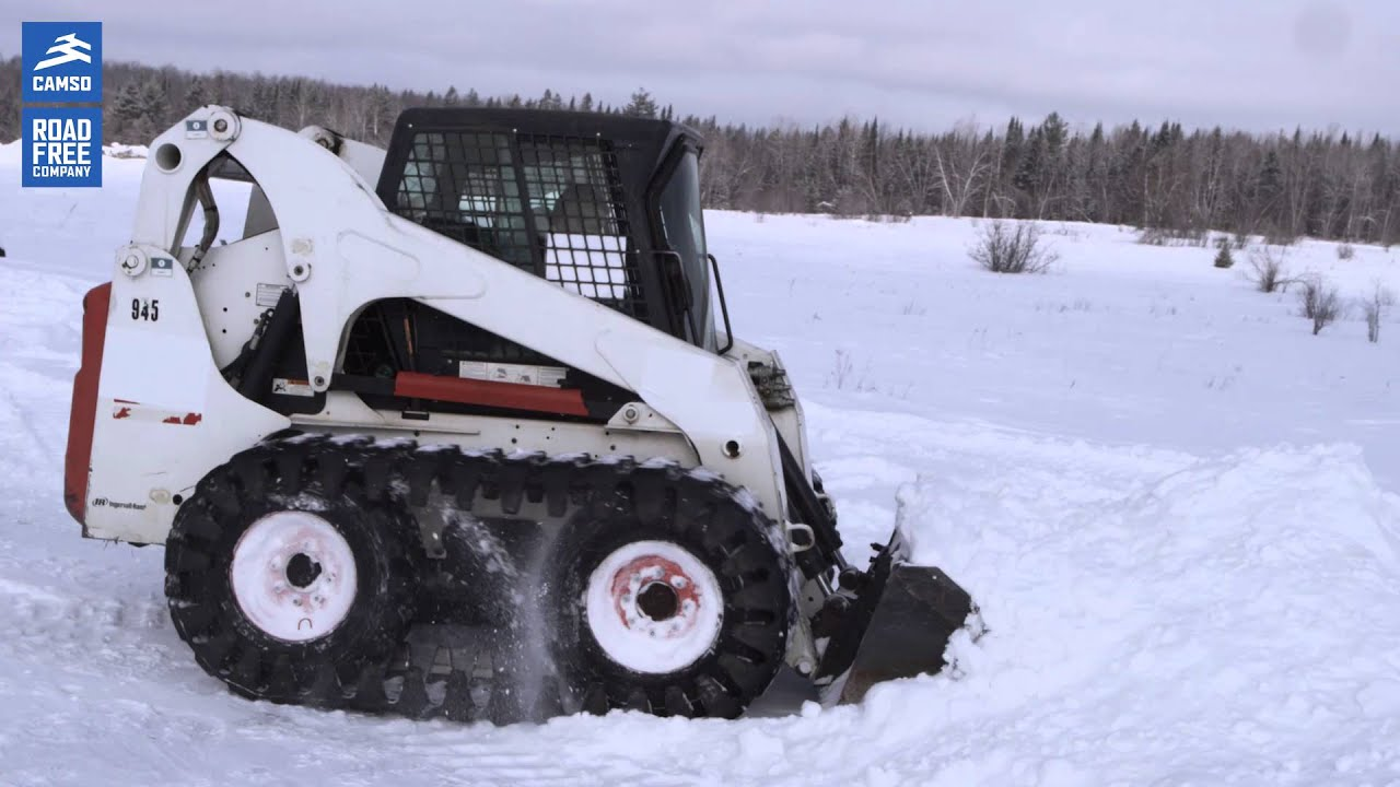 Camso Rubber OTT (over-the-tire tracks) for skid steers: perform during  winter