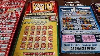 NEW SCRATCH OFF RELEASE OCTOBER 2015 Indiana Hoosier Lottery Live Gambling