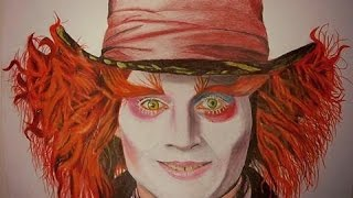 Realistic Drawing Johny Depp as the Mad Hatter - Burhan Imranoglu