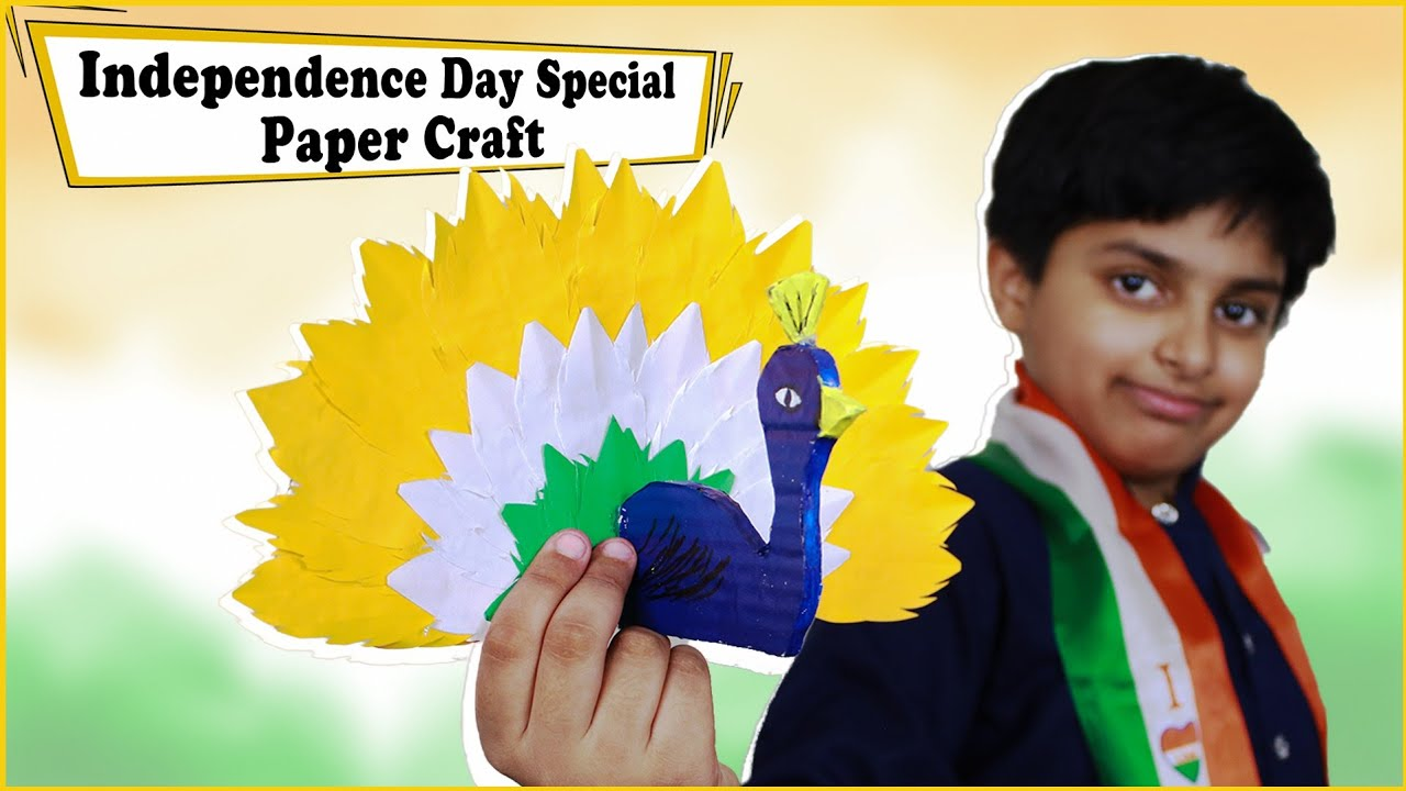 Independence day Craft - Tricolor Peacock   DIY Paper Craft Idea   Easy Paper Craft Idea