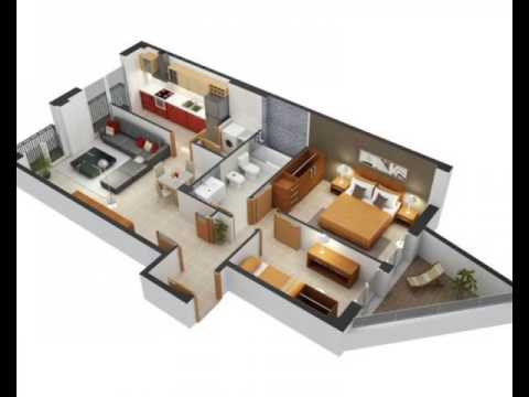 2 Bedroom ApartmentHouse Plans  YouTube