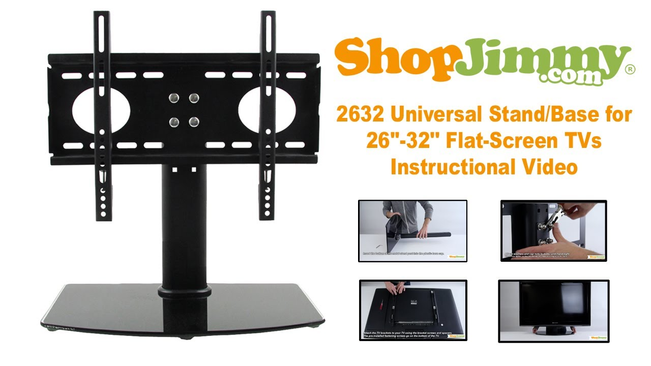 Jimmy 2632 Universal Stand Base For 26 32 Flat Screen Tvs Instructional You