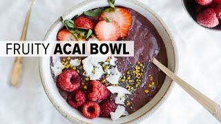 ACAI BOWL WITH MIXED BERRIES | healthy smoothie bowl goodness