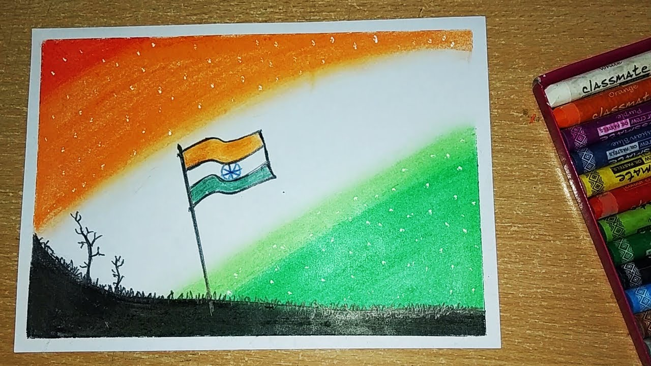 Independence Day Drawing Republic Day Drawing Indian Flag How To Draw Indian Flag For Kids Youtube