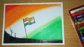 Independence day drawing | Creative drawing Indian Flag | how to draw Indian flag for kids