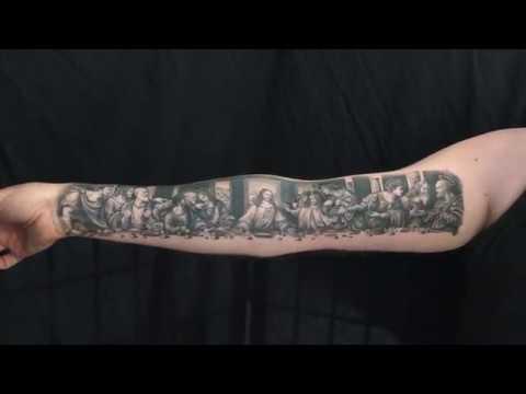 cbf1af9b2ebfd The Last Supper tattoo by Roxane Duquenne RoxD - YouTube