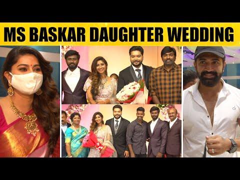 MS Baskar Daughter Ishwarya's Wedding Reception | Vijay sethupathi, Sneha , Soori, Arun Vijay | HD