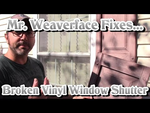 How to Install Vinyl Window Shutter   DIY Fastener Replacement & Repair   Easy $5 Fix!