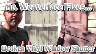 How to Install Vinyl Window Shutter | DIY Fastener Replacement & Repair | Easy $5 Fix!