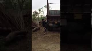 Climbing a strangers truck